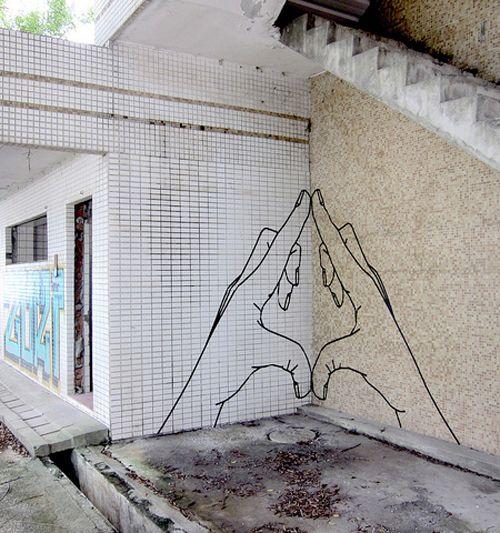 Símbolo Yoni o vagina en forma del mudra que puedes usar mientras meditas en tu poder femenino #streetart