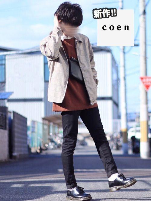 翔 coenのブルゾンを使ったコーディネート wear アウター ファッションコーディネート ニットベスト
