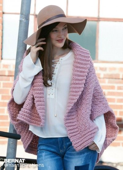 Origami Crochet Cardigan - Patterns | Yarnspirations