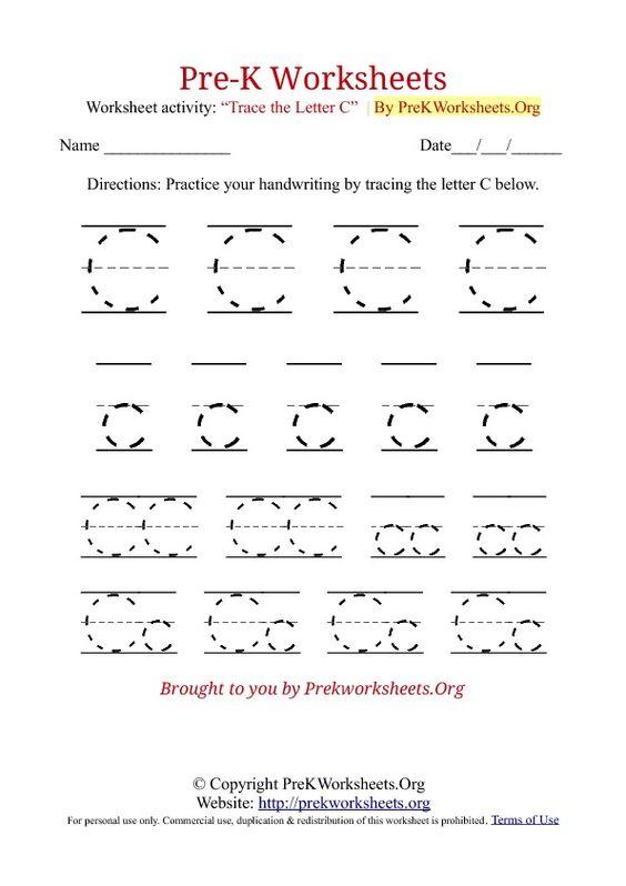 kids worksheets prek PreK Worksheets Alphabet Tracing – Prek Worksheets