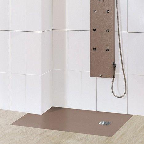 Plato de ducha de resina y carga mineral textura liso a - Platos de ducha medidas especiales ...