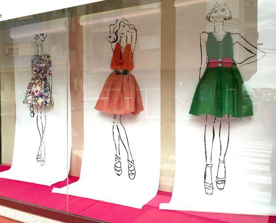 """DELOLITA COSTURA, Alquerias, Murcia, Spain, """"Bocetando tu Moda"""", (Sketching your Fashion), creative by Pablo Escaparatista, pinned by Ton van der Veer:"""