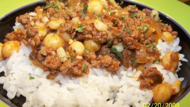 Ground Beef And Garbanzo Bean Casserole Recipe Food Com Recipe Ground Beef Bean Casserole Garbanzo Beans