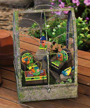 Another great find on #zulily! Garden Charm Mini Garden Furniture Set by Evergreen #zulilyfinds