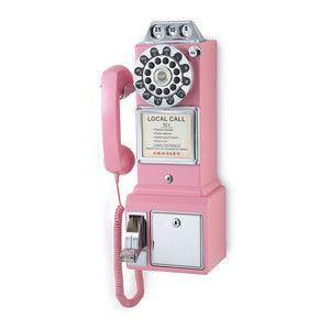50's Pay Phone Pink, $69.95, now featured on Fab.