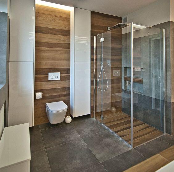 revestimentos para banheiros imitando madeira e cimento