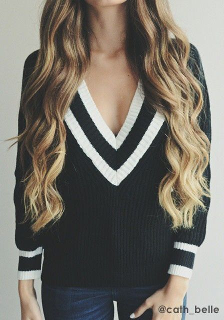 V Neckline Sweater: