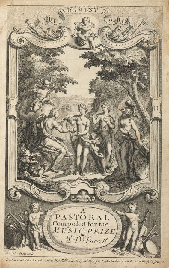 El juicio de Paris, cartel de la pastoral compuesta por Daniel Purcell