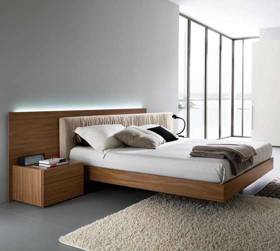 Edge Walnut Platform Bed By Rossetto