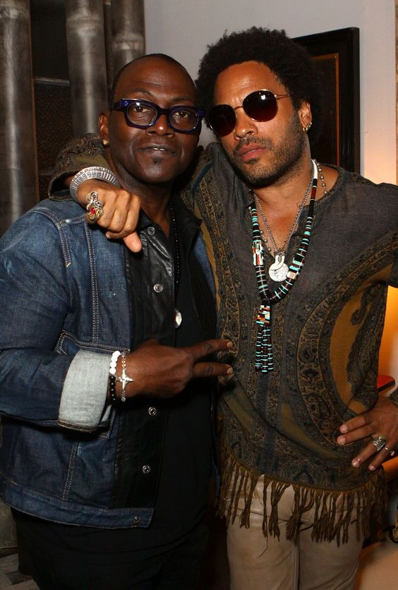 Top dawgs Randy Jackson and Lenny Kravitz chill at Church Boutique's What Do You Worship launch event on Nov. 14 in Los Angeles