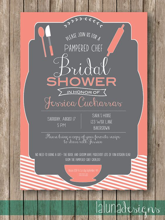 Kitchen Bridal Shower Invite Pampered Chef Invite Is It Okay To Have One Of These If I 39 M The