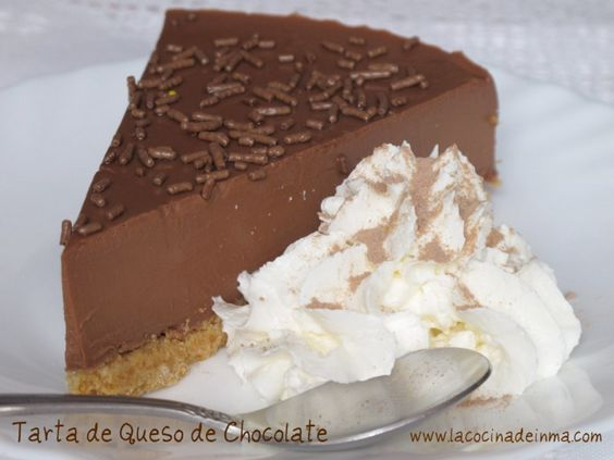Tarta de Queso de Chocolate (Chocolate cheesecake recipe)