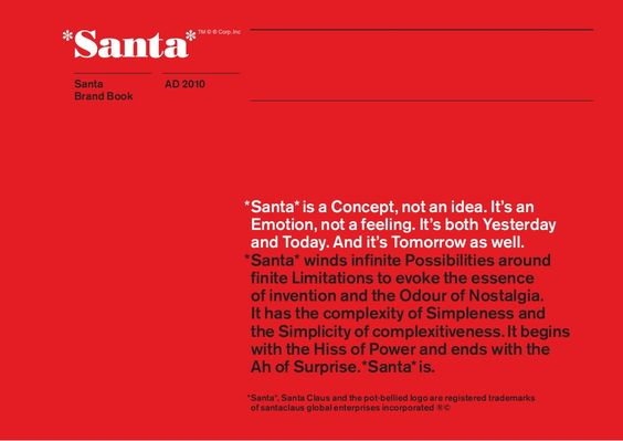 Santa brandbook by Erik Paisley via slideshare