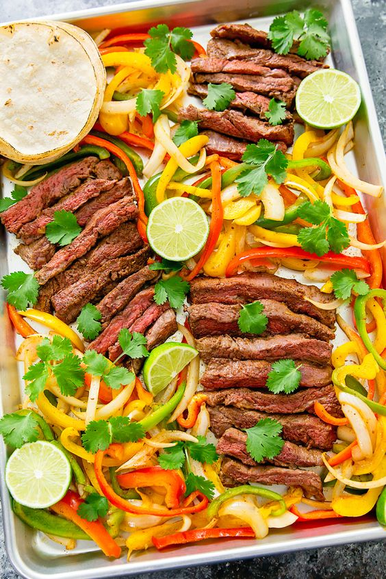 Sheet Pan Steak Fajitas: