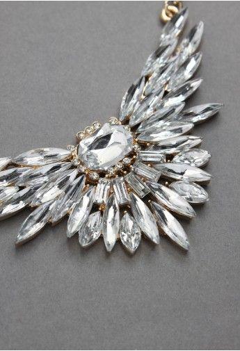 Crystal Spread Wings Necklace