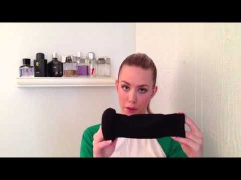 "Video Tutorial: Step by step ""How-to"" get the perfect sock bun that holds without pins and doesn't have any fly-aways."