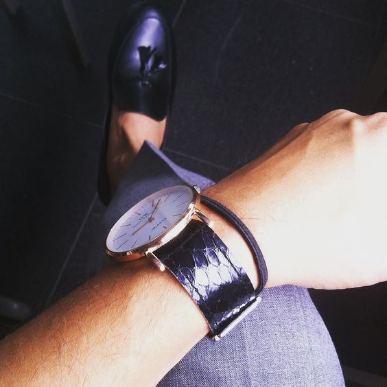 Black and Grey Snakeskin XALISTRAPS $35 www.xali.biz Get 15% OFF on your orders by using discount code MENSTYLICA15