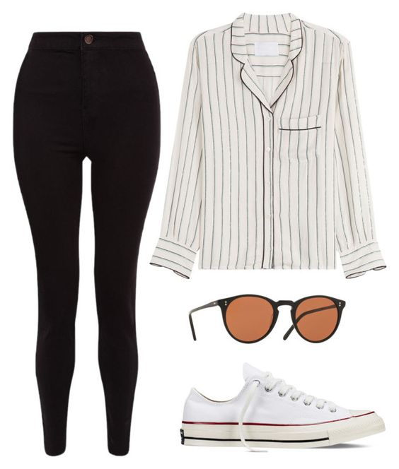 """Untitled #357"" by anniken-ns on Polyvore featuring Zadig & Voltaire, Converse and Oliver Peoples"