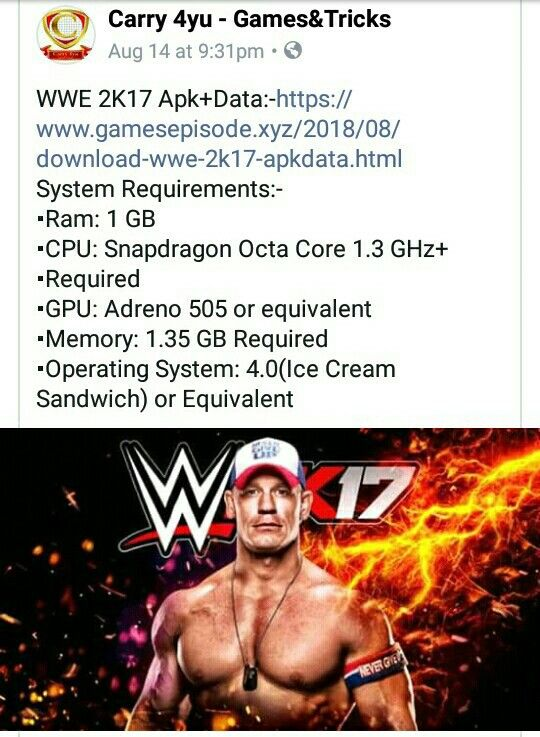 Download Wwe 2k17 Apk Data For Android Game Download Free The