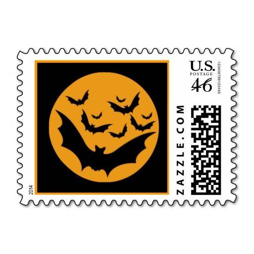 Halloween Bats Stamps