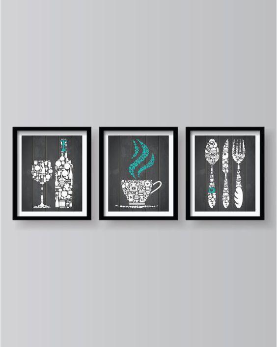 Küche Dekor  Küche-Wand-Kunst  Küche  Küchenkunst  von BlackPelican