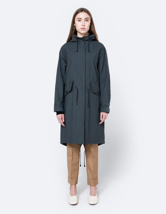 MHL / Fishtail Parka in Charcoal