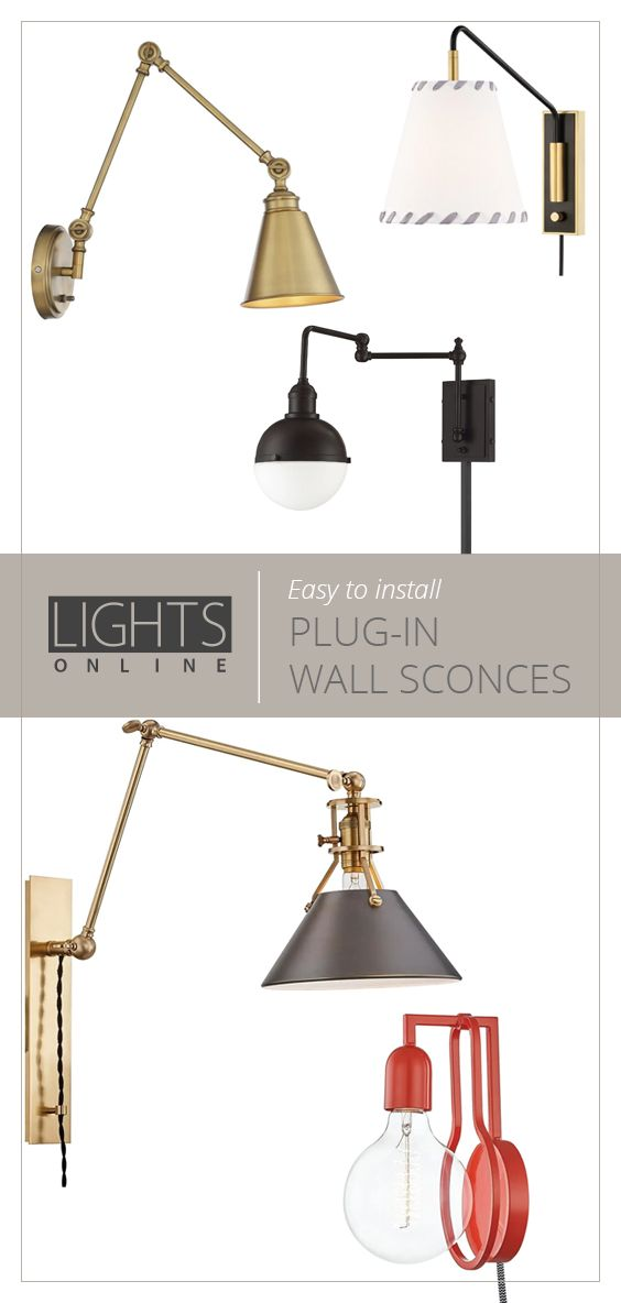 Plug In Wall Sconces In 2020 Plug In Wall Sconce Plug In Wall Lamp Wall Sconces Living Room