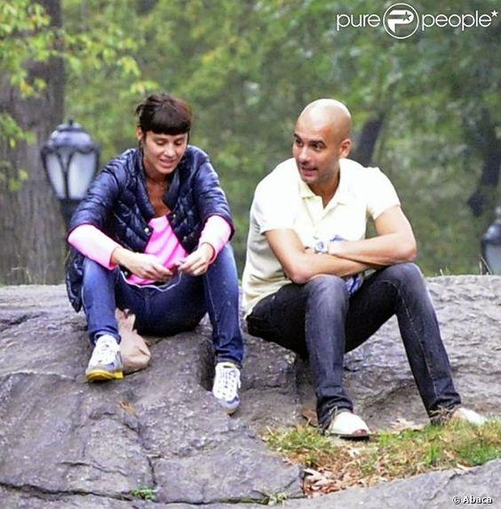 Pep Guardiola and Cristina Serra