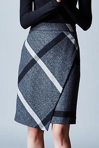 Estelle & Finn Blanket Plaid Wrap Skirt