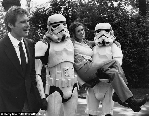 Love at first take: Carrie Fisher's Star Wars audition tape reveals her instant chemistry with Harrison Ford - before they became known as Princess Leia and Han Solo