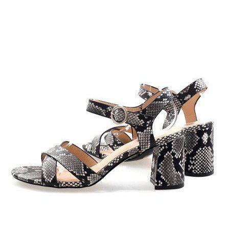 Wezowe Sandaly Na Slupku Zamsz X 116 Czarne Wielokolorowe Womens High Heels Heels Womens Sandals