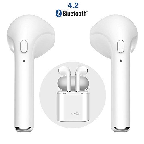 Bluetooth Headset Wireless Bluetooth Earbuds Stereo Headset Cordless Sports Headset Bluetooth in-Ear Headphones Built-in Microphone for Apple Airpods Android//iPhone