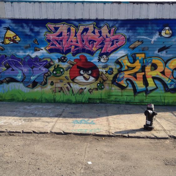Angry Birds. Saw this being sprayed.