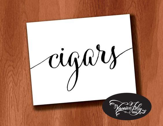 New to VeronicaFoleyDesign on Etsy: Cigar Bar Wedding Sign Cigars sign DIY Printable Wedding Signage 4x6 5x7 8x10 Wedding Sign Instant Download Printable Wedding Sign (4.00 USD)