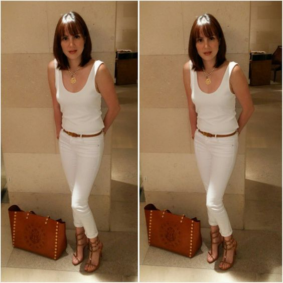 """White and Tan= Effortlessly CHIC!⭐ #chekaschecklist"""