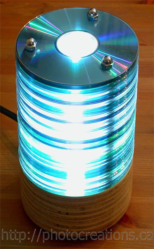 Luminária usando CDs