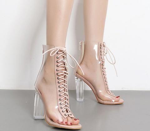 escarpins bottines découpées lacets