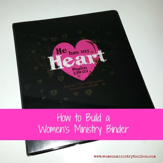 How to Build a Women's Ministry Binder - have often done this....I also have given each woman a flash drive with online forms from PWOC, articles etc....not sure which works best...probably depends on each gal. Maybe I need to do both. ::snort::