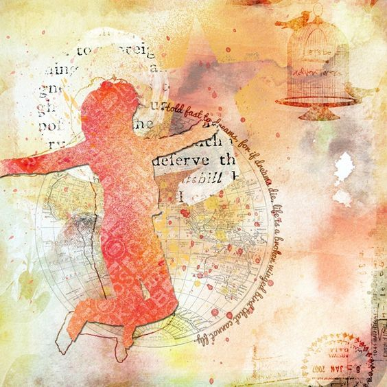 Hold Fast.. by janedee @2peasinabucket / Credits: Val C Designs - Carnet de Voyage, See The World, City Soul (star), Art Book - She is Happy