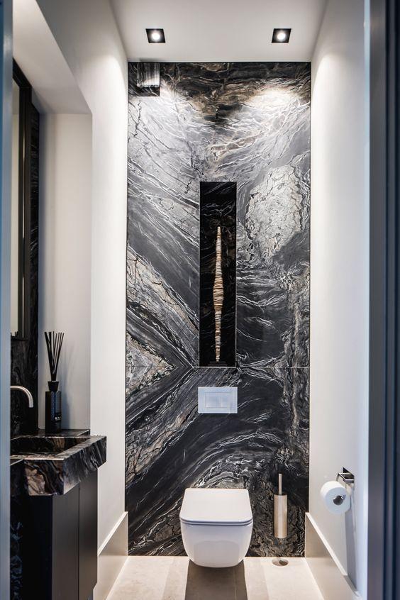 Luxury Bathroom Ideas Embrace Art Black Marble Bathroom