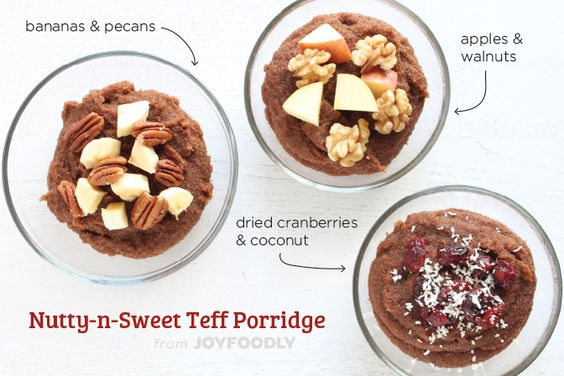 Nutty-n-Sweet Teff Porridge | Joy Foodly