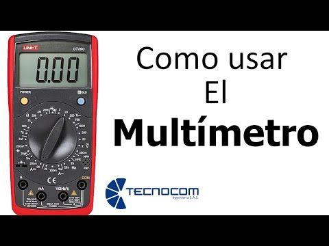 Como Usar El Multimetro Digital Medir Voltaje Corriente Y Continuidad El Imagenes De Electricidad Herramientas De Electricidad Electricidad Y Electronica