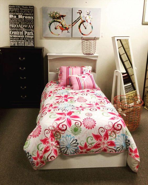 Chic children's bedroom display #olyfurnco #cute #pink #art #display #local #children #comfort #furniture #Washington #WA #creative #fun #olympia #mymixx96
