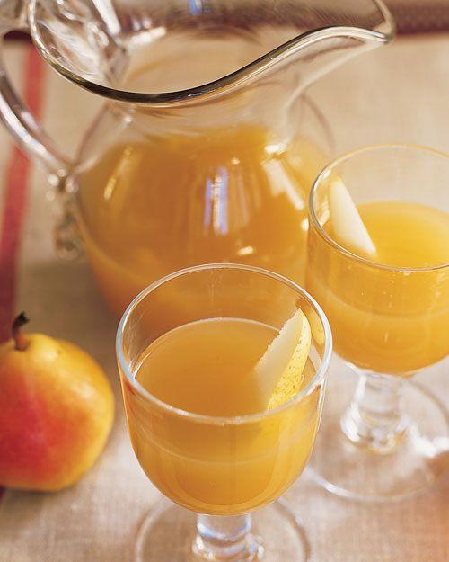 Pear and Sparkling Cider Cocktails | Recipe | Cider Cocktails, Pears ...