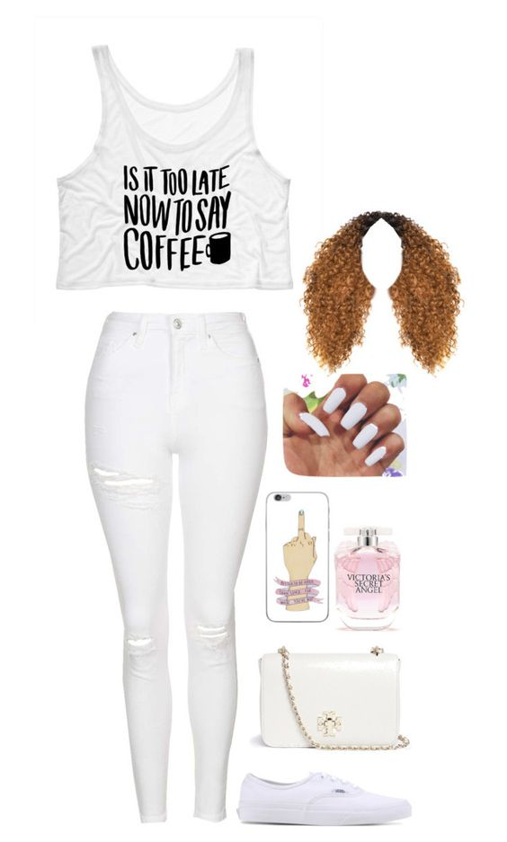 """""""Untitled #346"""" by mina-smith1 on Polyvore featuring Topshop, Vans, Tory Burch and Victoria's Secret"""