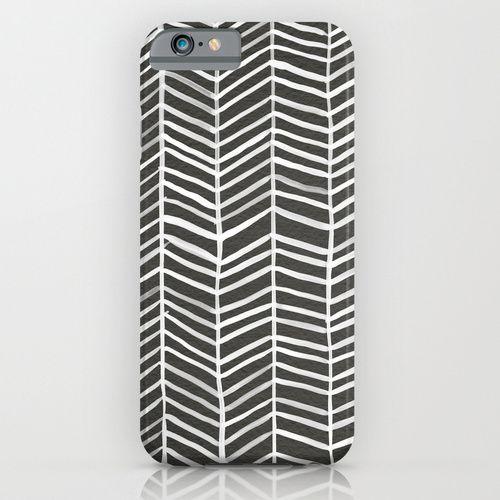 Herringbone – Black & White iPhone & iPod Case