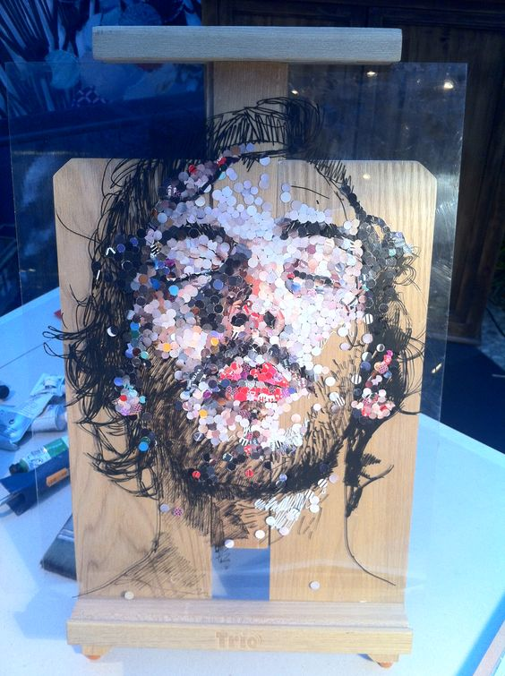 Oeuvre de Ced Vernay au New Hotel en Marseille