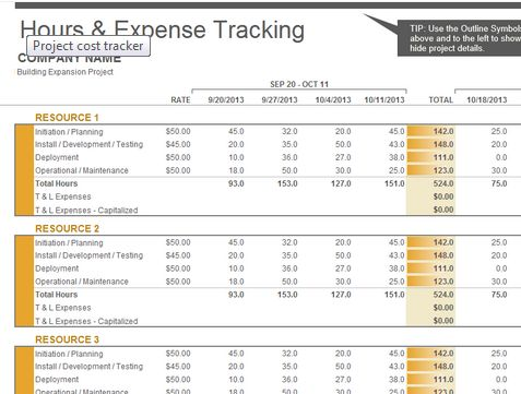 Learn Microsoft Excel Project cost tracker Excel 2013 Template - microsoft office inventory template