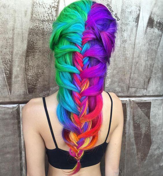 Pinterest: marinargar15 Rainbow Candy by Guy Tang colorful rainbow hair