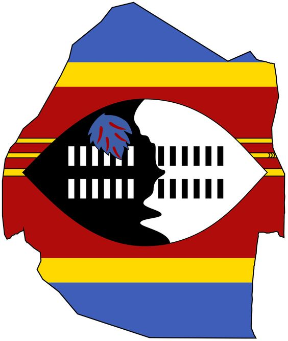 Swaziland Flag Map
